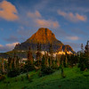 Reynolds Peak In Last Light - Logans Pass, Glacier National Park, Montana