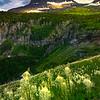 Last Light Streaks Across Peaks - Going To The Sun Road, Glacier National Park, Montana