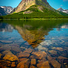 Glacier From Underneath - Swiftcurrent Lake, Many Glacier, Glacier National Park, Montana