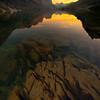 Wild Goose Lookout Sunset - Wild Goose Island Lookout, Saint Mary's Lake, Glacier National Park, Montana