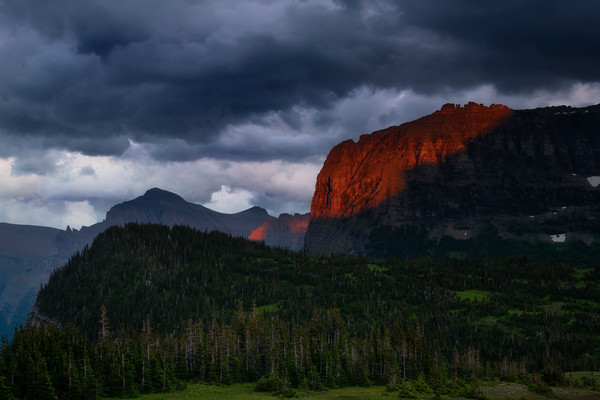 Stormy Clouds On Logans Pass - Going To The Sun Road, Glacier National Park, Montana