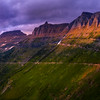The Garden Wall Under Last Light - The Garden Wall,  Going To The Sun Road, Glacier National Park, Montana