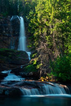 At The Base Of Virginia Falls - Virginia Falls, Glacier National Park, Montana