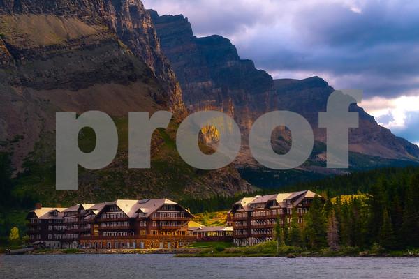 Morning Light On The Many Glacier Hotel - Swiftcurrent Lake, Many Glacier, Glacier National Park, Montana