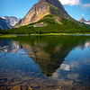 Grinnell Peak In Morning Light - Swiftcurrent Lake, Many Glacier, Glacier National Park, Montana