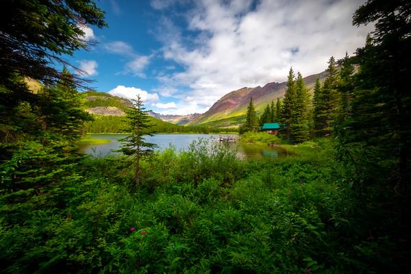 Afternoon Clouds Over Swiftcurrent Lake - Lake Josephine, Many Glacier, Glacier National Park, Montana