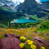 Overlook View Of Grinnell Lake - Grinnell Glacier Trail, Glacier National Park, Montana