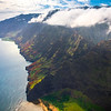 Views Of The Crater And Coastline Of Na Pali - Na Pali Coastline, Kauai, Hawaii