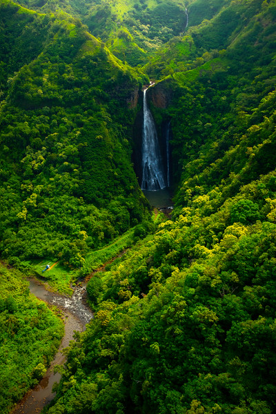 Manawaiopuna Falls From Jurassic Park - Waimea Canyon, Kauai, Hawaii