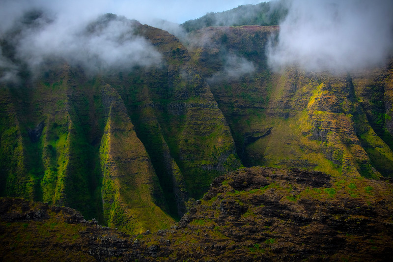 Jutting Edges Of Na Pali Coast - Na Pali Coastline, Kauai, Hawaii