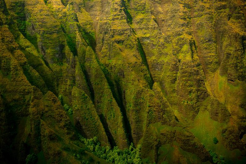 Jagged Edges Along The Cliffs - Na Pali Coastline, Kauai, Hawaii