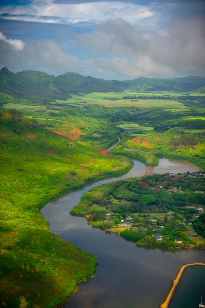 Working Your Way Up Valley -  East Shore Of Kauai, Hawaii