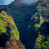 Misty Fog Rolling Over The Tops - Na Pali Coastline, Kauai, Hawaii