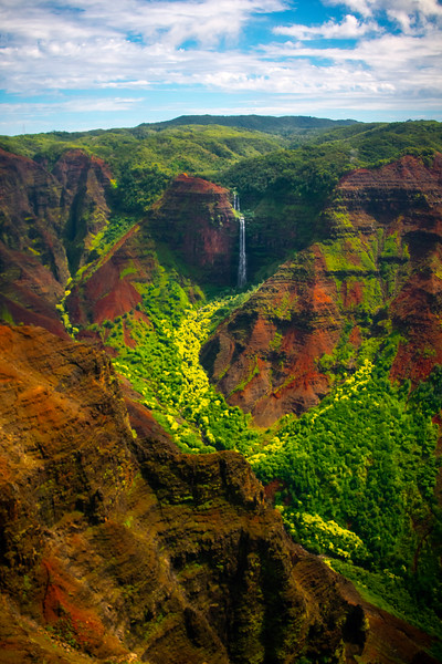 Around Every Corner Is A Waterfall - Waimea Canyon, Kauai, Hawaii