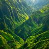 Curvy Rivers Snaking Through The Valley - Waimea Canyon, Kauai, Hawaii