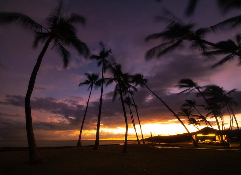 Twilight Glow Explosion On Horizon - Salt Pond Beach Park, South Kauai, Hawaii