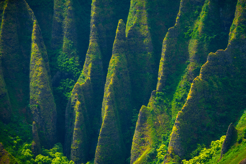 Shark Like Fins Along The Na Pali - Na Pali Coastline, Kauai, Hawaii