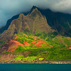 Shapes Of Color and Light - Na Pali Coastline, Kauai, Hawaii