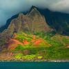 Shapes Of Color and Light - Na Pali Coastline, Kauai, Hawaii