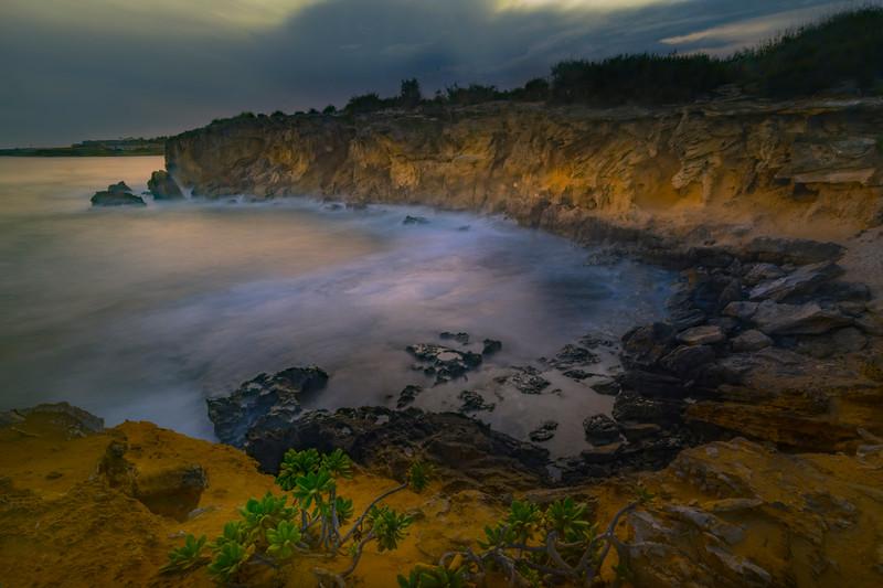 Moody Night - Shipwreck Beach, Poipu, South Shore, Kauai