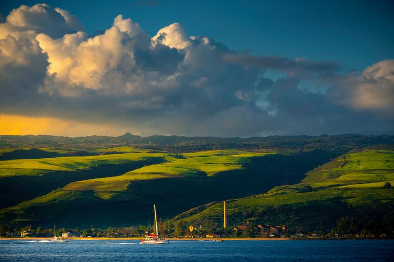 Warmth Of Sunset Light Heading Home - Na Pali Coastline, Kauai, Hawaii