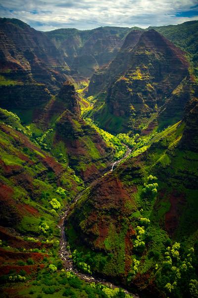 Pyramids Of Time Inside The Canyon - Waimea Canyon, Kauai, Hawaii