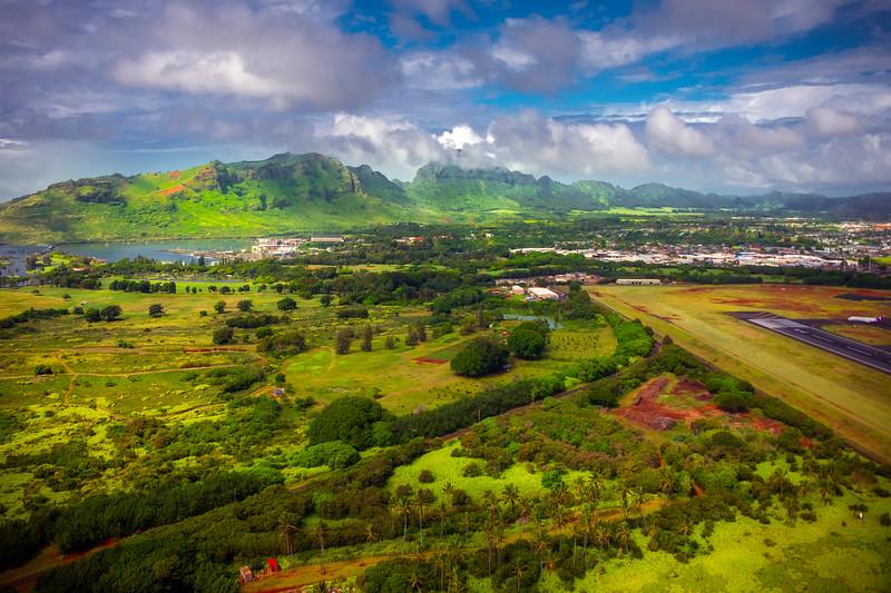 Overlooking The Kauai Airport Region -  East Shore Of Kauai, Hawaii