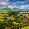 Overlooking The Kauai Airport Region -  East Shore Of Kauai, Hawaii