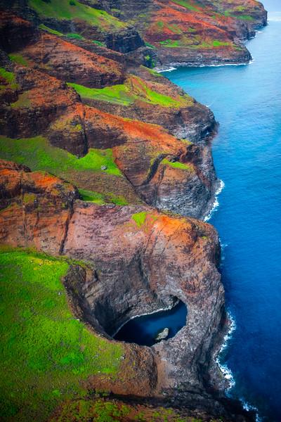 Watering Hole Along The Na Pali Coast - Na Pali Coastline, Kauai, Hawaii
