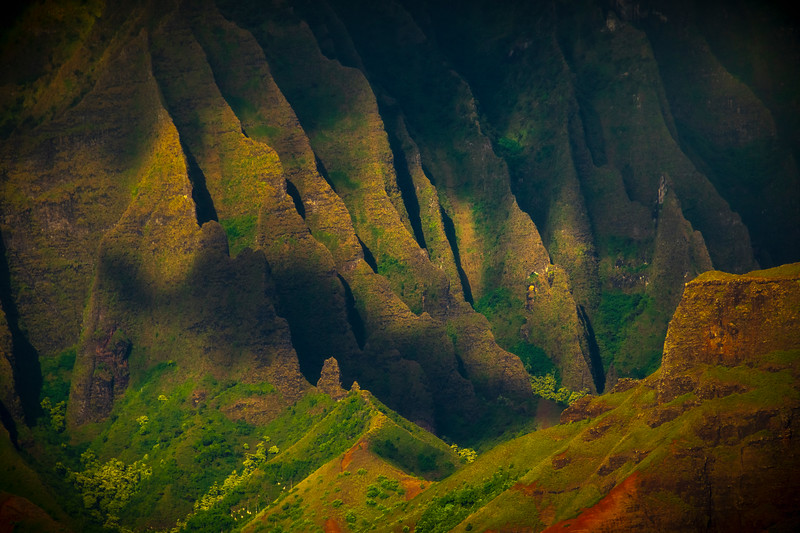 Fleeting Light Skips Across The Spires - Na Pali Coastline, Kauai, Hawaii