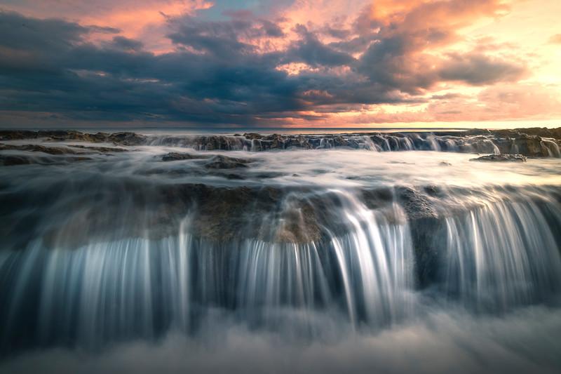 Cascading Falls At Salt Pond Park - Salt Pond Beach Park, South Kauai, Hawaii