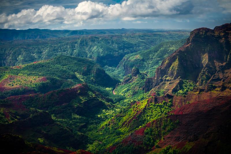 Up The Heart Of The Valley - Waimea Canyon, Kauai, Hawaii
