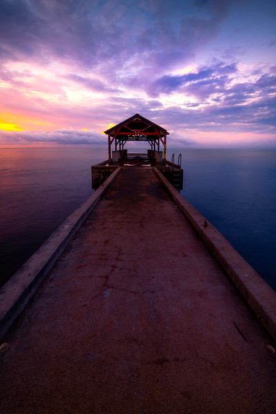 Sunrise Pastels On Waimea Pier - Waimea Pier, Waimea, South Shore, Kauai