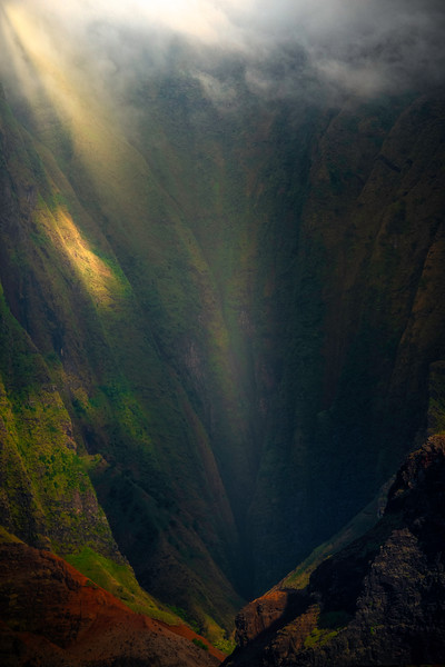 Cavern Of Mystery Light - Na Pali Coastline, Kauai, Hawaii