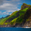 A Nice Afternoon To Sail - Na Pali Coastline, Kauai, Hawaii