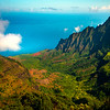 Morning Light Looking Out At Na Pali Coastline - Kalalau Valley, Waimea Canyon, Kauai, Hawaii
