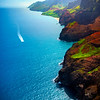 Sightseeing Along The Na Pali By Boat - Na Pali Coastline, Kauai, Hawaii
