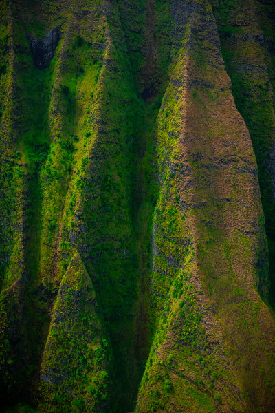 Abstract View Of The Spires - Na Pali Coastline, Kauai, Hawaii