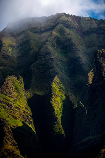 Ethereal Light Inside The Canyon Walls Of Na Pali_ - Na Pali Coastline, Kauai, Hawaii