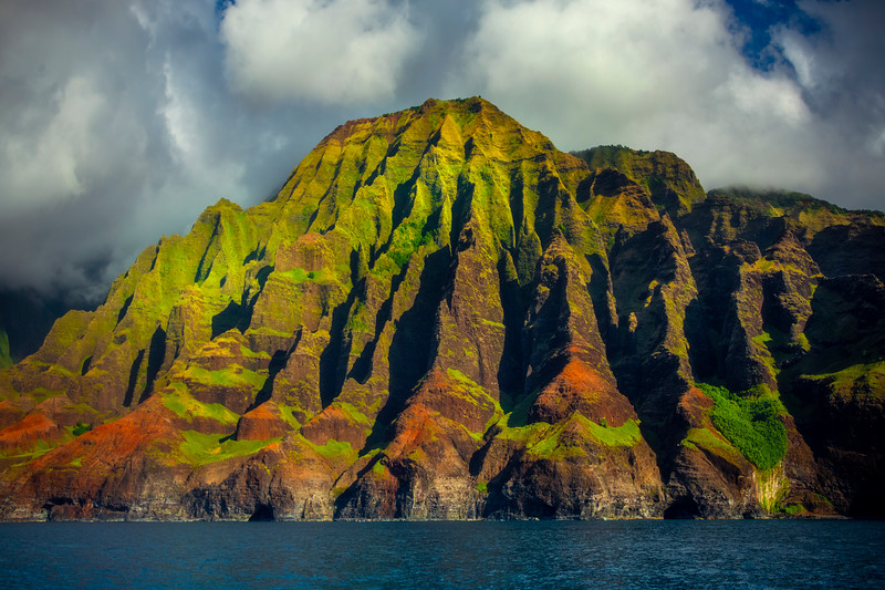 The Sacred Mountain - Na Pali Coastline, Kauai, Hawaii
