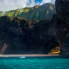 Late Afternoon Light Shining Through Tunnel - Na Pali Coastline, Kauai, Hawaii