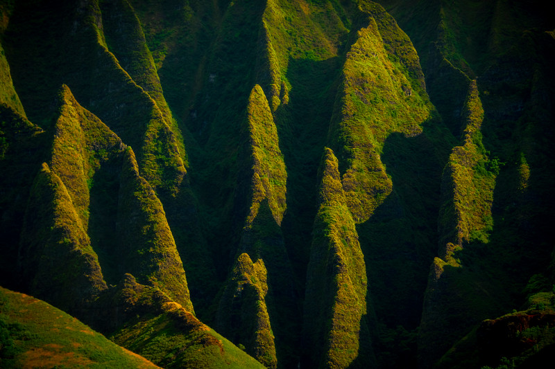 Abstract View Of The Na Pali - Na Pali Coastline, Kauai, Hawaii
