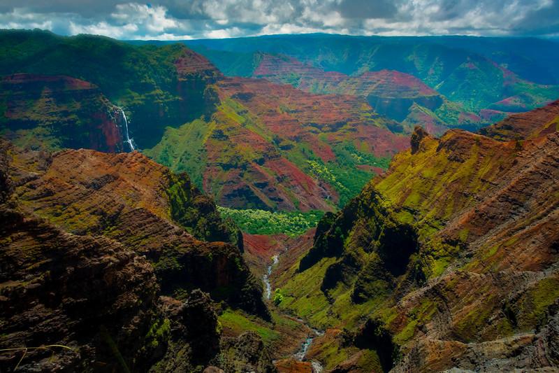 Right Down The Middle Of Waimea Canyon - Waimea Canyon, Kauai, Hawaii