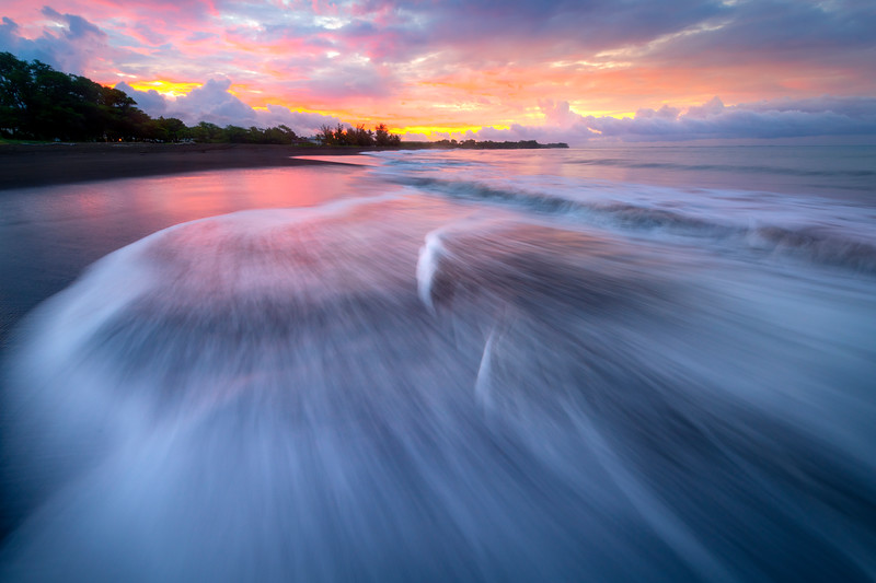 Sunrise Rushing Waves - Waimea Pier, Waimea, South Shore, Kauai