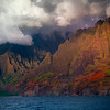 Last Moments Of Light On The Spires - Na Pali Coastline, Kauai, Hawaii