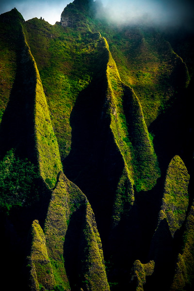 Shadow Love Deep Within - Na Pali Coastline, Kauai, Hawaii