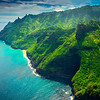 The Tropical Lush Greens Of Na Pali - Na Pali Coastline, Kauai, Hawaii