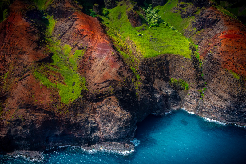 When The Waterfalls Meet The Ocean - Na Pali Coastline, Kauai, Hawaii