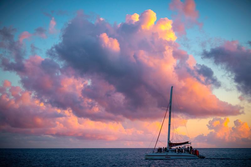 Sail Away Into The Sunset_Revised - Na Pali Coastline, Kauai, Hawaii