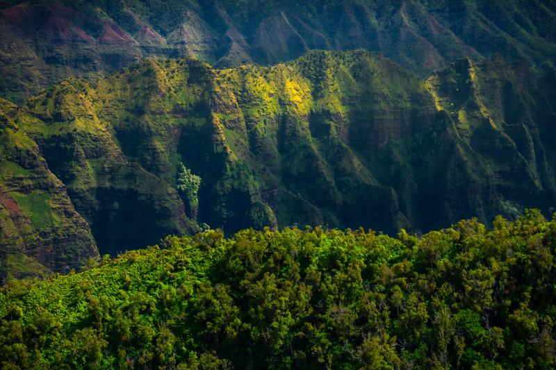 Flying Into The Valley Of Spires - Waimea Canyon, Kauai, Hawaii